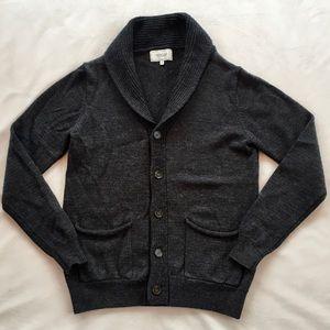 Frank & Oak Grey Button Front Cardigan Size M